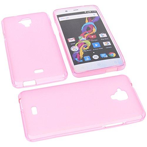 foto-kontor Tasche für Archos 50 Titanium 4G Gummi TPU Schutz Handytasche pink