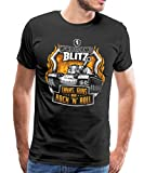 Spreadshirt World of Tanks Blitz Tanks Guns Rock'n'Roll T-Shirt Premium Homme, XXL,...