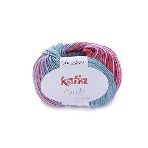 Fair Cotton de Katia-turquesa - 50 G//aprox 16 155 m lana