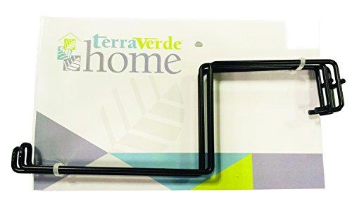Terra Verde Home 91360 Deck Rail Flower Box Holder, Black