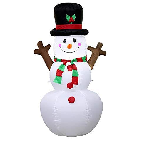 1,6 m Gigante Pupazzo di Neve Gonfiabile Blow up Giocattolo Babbo Natale Decorazione Natalizia per Alberghi Cena Mercato intrattenimento Venues Vacanza