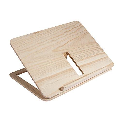 Rayher 62797000 Holz- Tablet- oder Buchständer FSC 100%, 28 x 21 x 3,4 cm