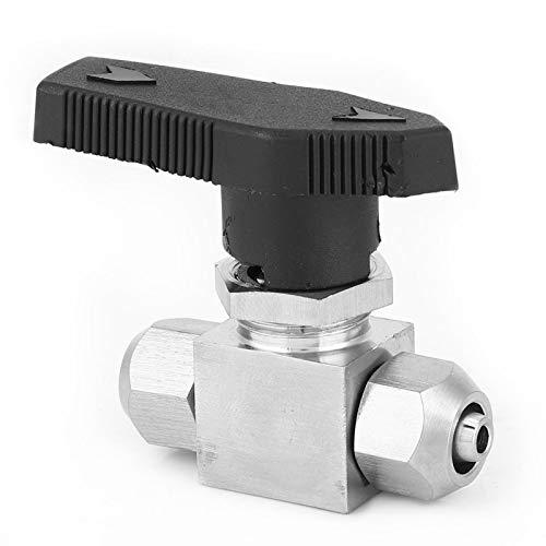 Válvula de bola recta de acero inoxidable 304 Válvula de bola de giros rápido para tubería de aire y agua (6 x 4 mm/8 x 5 mm/8 x 6 mm/10 x 6,5 mm/10 x 8 mm/12 x 10 mm/12 x 8 mm)(12 * 10mm)