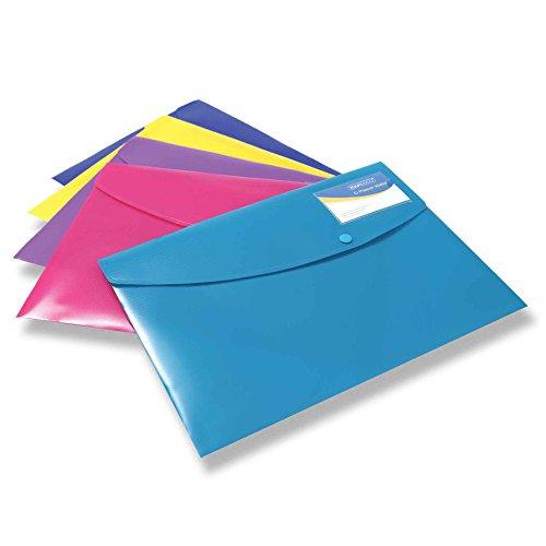 Rapesco 0701 Cartellina/Busta Portadocumenti, A4+, Colori a Tinta Unita Assortiti, yellow
