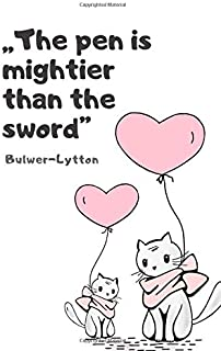 Journal for Kids, Draw and Write Notebook - The pen is mightier than the sword: Instructive and inspirational quote, Blank...