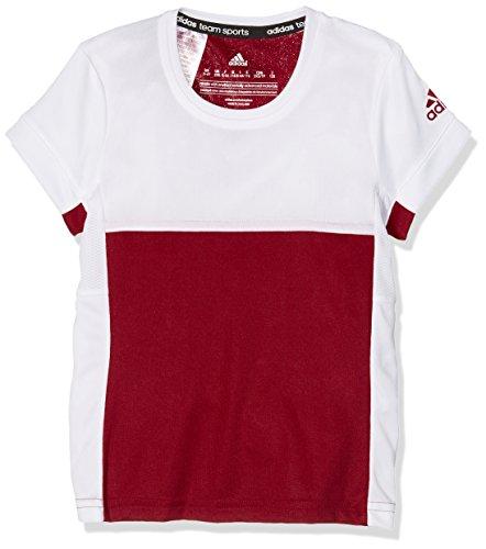 adidas Camiseta T16 Climacool tee, otoño/Invierno, niña, Color Rojo/Blanco, tamaño 128