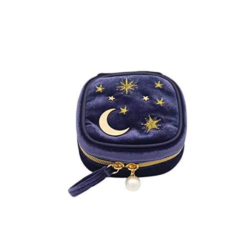 sac de maquillage de mode brodé portable cosmétique sac de transport sac de toilette pour les femmes organisateur de bijoux