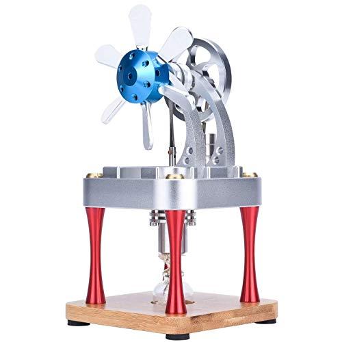 Sunnytech Hot Air Stirling Engine Motor Steam Heat Education Model Toy Kit M16-CF