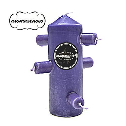 Aromasenses Velón 7 MECHAS Violeta 16 cm