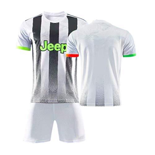 377LA Maglietta Calcio, 7 Ronaldo,10 Dybala, Abiti da Calcio alla Moda, Abbigliamento da Calcio per Bambini Adulti