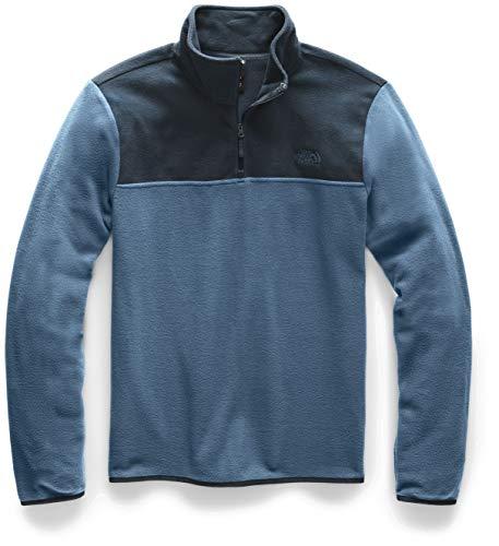 The North Face Men's TKA Glacier Quarter Zip Pullover, Blue Wing Teal/Urban Navy, Medium