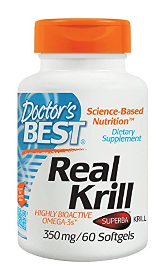 定数防止局海外直送品 Doctors Best Real Krill, 60 sofgels