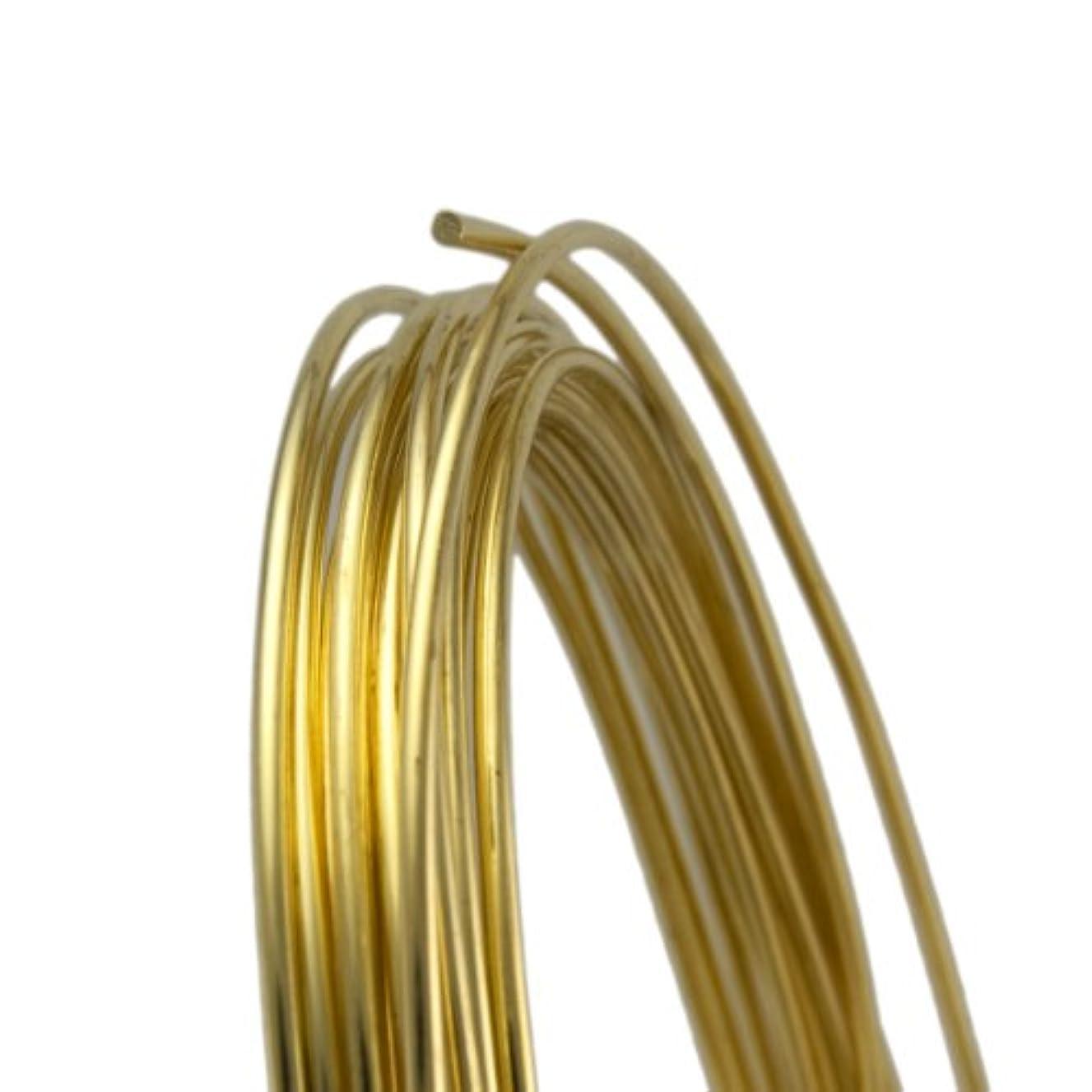 20 Gauge Round Half Hard Yellow Brass Wire - 5FT
