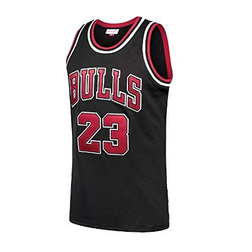 U/A Bulls Basketball Trikot mit Chip Retro Besticktes Trikot Herren Sportswear Running Fitness Training T-Shirt Swingman Trikot