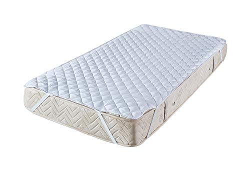 Style Heim Matratzen Topper Auflage Matratzenschoner 140x200 cm für Bett und Boxspringbett Quadratsteppung Atmungsaktive Microfaser Matratzenauflage Matratzentopper Nässeschutz, Weiß