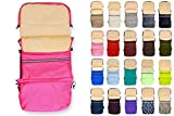 Baby-Joy Winterfußsack FINN XXL 115cm Lammwolle/Polyester THERMOFUßSACK Buggy Kinderwagen   3in1 Fußsack, Tasche, Krabbeldecke   15 Pink