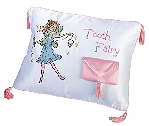 Lillian Rose Tooth Fairy Embroidered Pillow, 11 x 8 inches (Limited Edition)