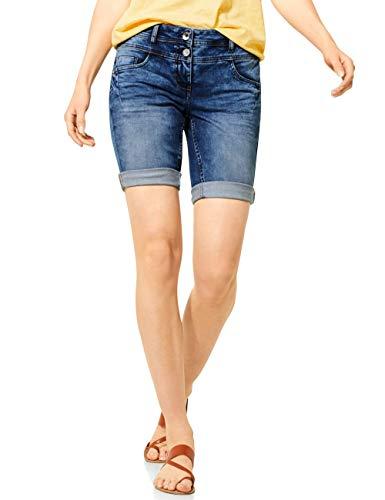 Cecil Damen 373117 Scarlett Shorts, Authentic mid Blue wash, 36