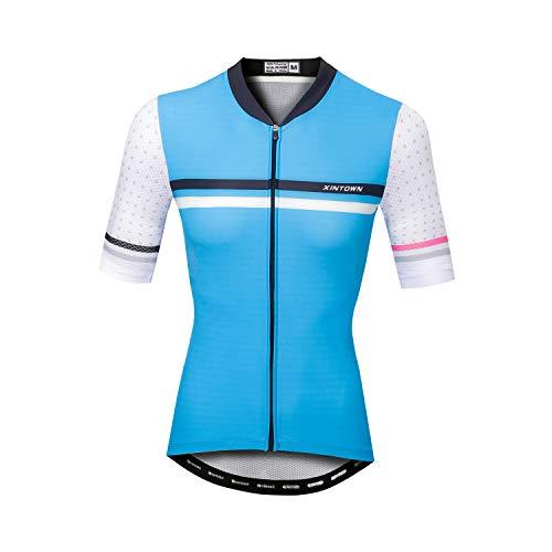 Sunbike Maglie da Ciclismo da Donna a Manica Corta Traspiranti Abbigliamento da Ciclismo per Bici, Motociclisti, Biciclette