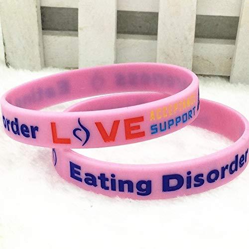 Trastorno para Comer Alerta Médica De Silicona De Pulsera De Mano (Color : Pink)