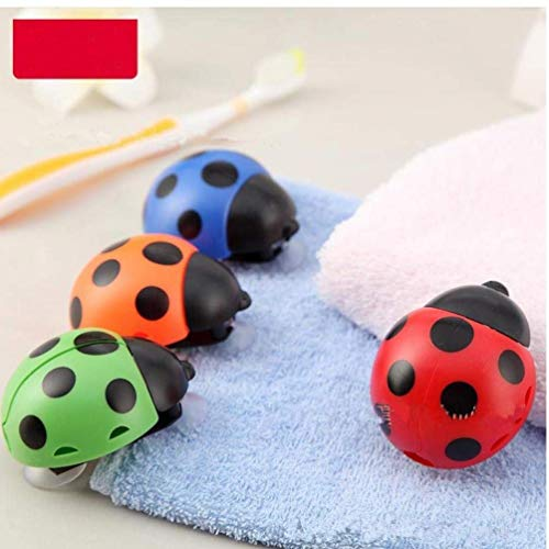 GYC Stainless Steel Retractable New 1pc New Nolvelty Ladybug Automatic Toothbrush Holder