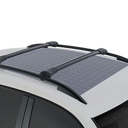 BDK Anti-Slip Rooftop Cargo Mat Protective Liner for Roof Cargo Bags - Rubber Grip Non-Adhesive Scratch-Proof Cushioned Layer