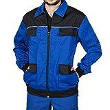 Mazalat Arbeitsjacke männer, Schutzjacke mit vielen Taschen,Arbeitsjacken Herren, Jacket mit Brusttasche Herren, Qualitat Jacke, Arbeitskleidung männer (Blau/Schwarz, S)