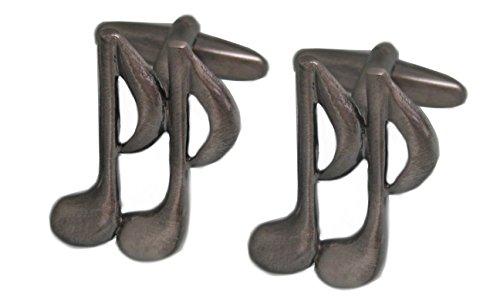 Unbekannt Musik Manschettenknöpfe Musiknoten antiksilbern geschwärzt inkl. Geschenkbox