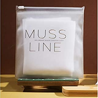 MUSS LINE 100% Organic Face Cleansing Cloths   Organic Makeup Remover  Face Cleansing Wipes   Muslin face cleansing cloths   Face Cleanser  Dirt Remover For All Skin Type - PACK OF 3