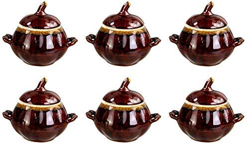 GMMH Kochtopf Auflaufform Keramik Topf Töpfe Set 6 Stück (Aladin)