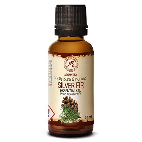 Edeltannennadelöl 30ml - Weisstanne Öl - Picea Abies Leaf Oil - Österreich - 100% Naturreines Ätherisches Tannenöl – Guten für Sauna, Aromatherapie, Diffuser - Silver Fir Oil