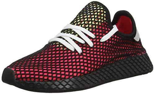 adidas Deerupt Runner, Scarpe da Ginnastica Uomo, Rosso (Shock Red/Real Lilac/Core Black Shock Red/Real Lilac/Core Black), 44 2/3