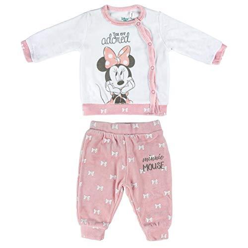 Artesania Cerda Conjunto 2 Piezas Velour Minnie Ropa, Rosa (Rosa C07), 9m para Bebés