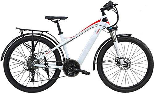 Bicicleta de montaña eléctrica, Adultos bicicleta de montaña eléctrica, 27.5 pulgadas frenos de viajes E-Bici de doble disco con el teléfono móvil Tamaño Pantalla LCD 27 Velocidad batería extraíble de