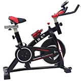ISE Spinning Bike Ergonomica, Bicicletta Cyclette da Allenamento,Volante di Inerzia 10 kg, Salvaspazio & Silenzio Fitness, SY-7802
