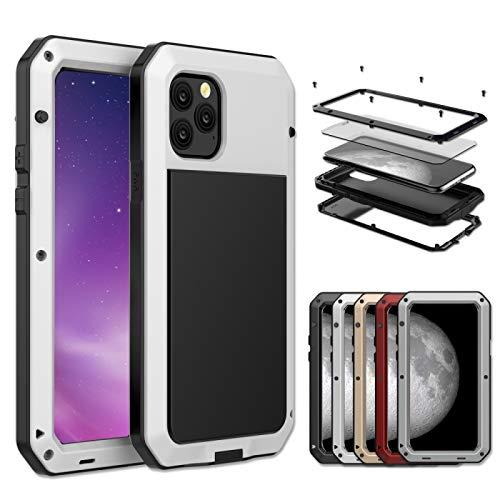 ANTONIDAS Pelletteria -per iPhone 11 Custodia Protettiva a Tripla Armatura in Metallo .Gel di silice (Color : White)