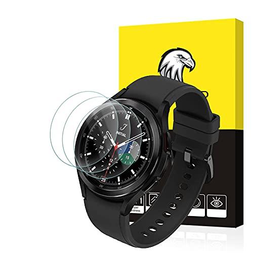 SPGUARD Schutzfolie Kompatibel mit Samsung Galaxy Watch 4 Classic 46MM Panzerglas Schutzfolie,(3 Stück)[2.5D,9H Härte] Anti-Kratzen,Hohe Klar Displayschutzfolie für Samsung Galaxy Watch4 Classic 46MM