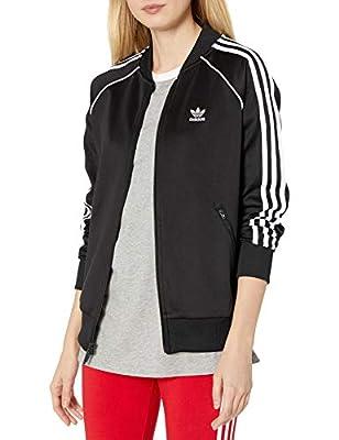 adidas Originals Women's Super Women Track Top, Black/White, S
