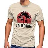 Neverless® California Palmen Santa Monica Beach - Camiseta para hombre, diseño de playa California Natur L