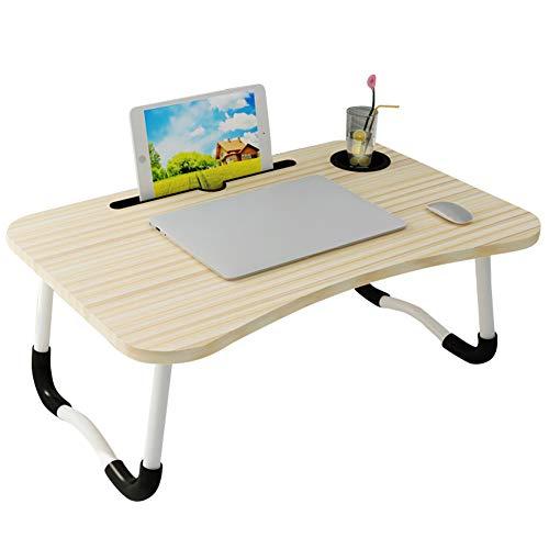 QD-SGMP 折りたたみテーブル ミニ 60cm ベッドテーブル ローテーブル おしゃれ かわいい PC ノートパソコンデスク 食事 勉強 子供用 キャンプ アウトドア 軽量 多機能 溝付き 腕保護(ホワイト)