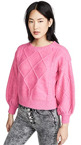 Image of the Line & Dot Women's Rory Sweater, Magenta, Pink, X-Small