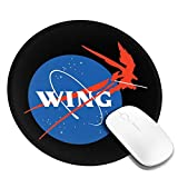 Gundam Mecha Aeronautics NASA Logo Customized Designs Non-Slip Rubber Base Gaming Mouse Pads for Mac,7.9x7.9 in, Pc, Computers. Ideal for Working Or Game