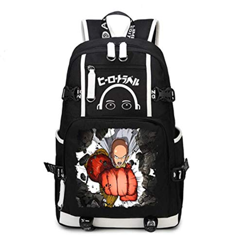 Anime Mochila de hombro Portátil Backpack mochila escolar unisex school girls boy Bookbag Laptop Bag One Punch Man 08