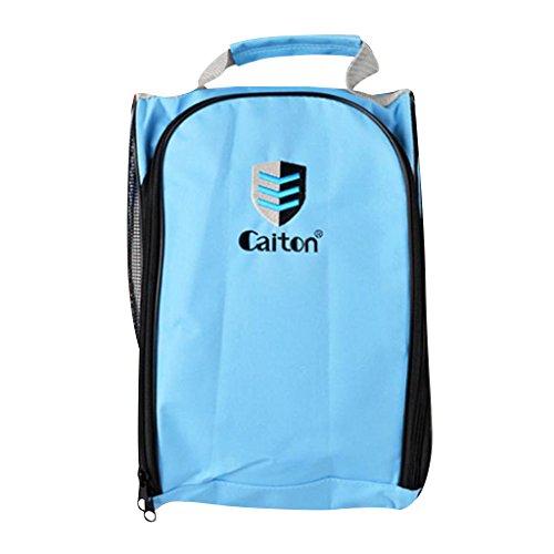 Sharplace Sac De Chaussures De Golf Sacoche Accessoire Sport Rangement Portable Facile à Transporter - Bleu, 32,5 x 21 x 13 cm