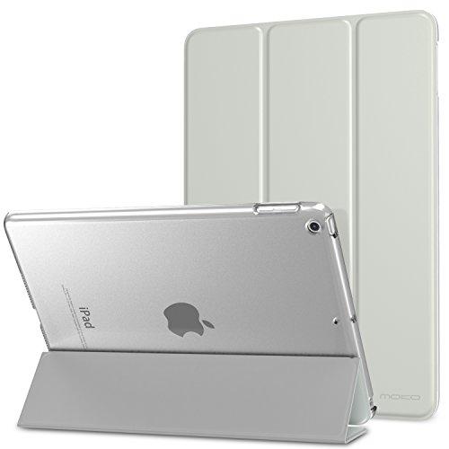 MoKo Funda para 2018/2017 iPad 9.7 6th/5th Generation - Ultra Slim Función de Soporte Protectora Plegable Smart Cover - Plata (Auto Sueño/Estela)