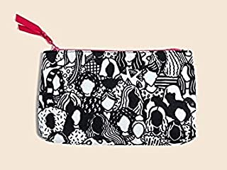 Ipsy March 2018 Cosmetics Bag - Black and White Ladies Design - Makeup Bag Only