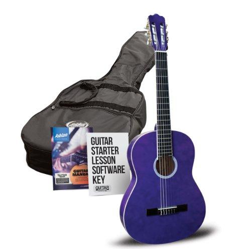 Ashton SPC14TP - Guitarra clásica tamaño 1/4, color morado