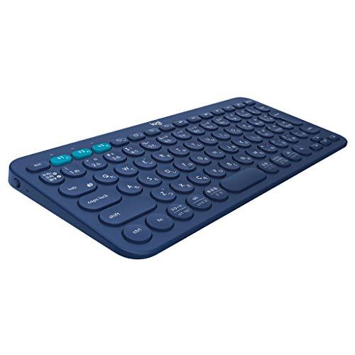 ロジクール ワイヤレスキーボード 無線 キーボード 薄型 小型 K380BL Bluetooth K380 ワイヤレス マルチOS:...