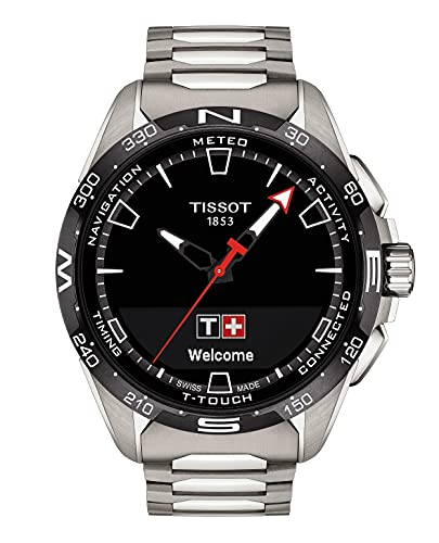 Tissot T-Touch - Correa para reloj unisex de cuarzo con conexión suiza y táctil para adultos, color gris, 23 (Modelo: T1214204405100)