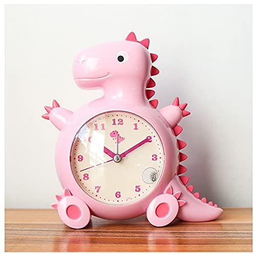 Despertador De Viaje Analógico Sin Timbre, Números Claros, Fácil De Usar, Regalo del Día De Los Niños para Niños Y Niñas. (Color : Pink)